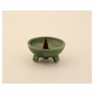 Räucherstäbchenhalter, Keramik, Inka grün, RSH04
