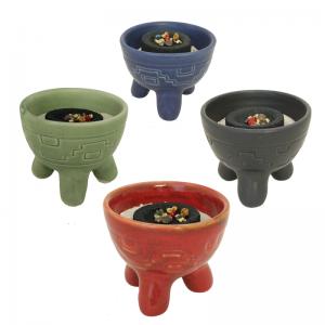 Räucherschale für Kohle und Kegel, Keramik, Inka, RSH06