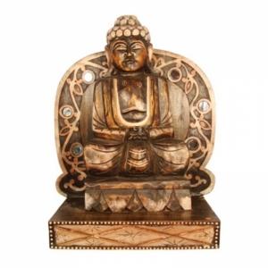 dekorationsartikel buddha figuren figuren aus holz duftschloss. Black Bedroom Furniture Sets. Home Design Ideas