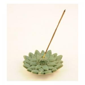 Räucherstäbchenhalter, Ton Lotus grün, RSH32