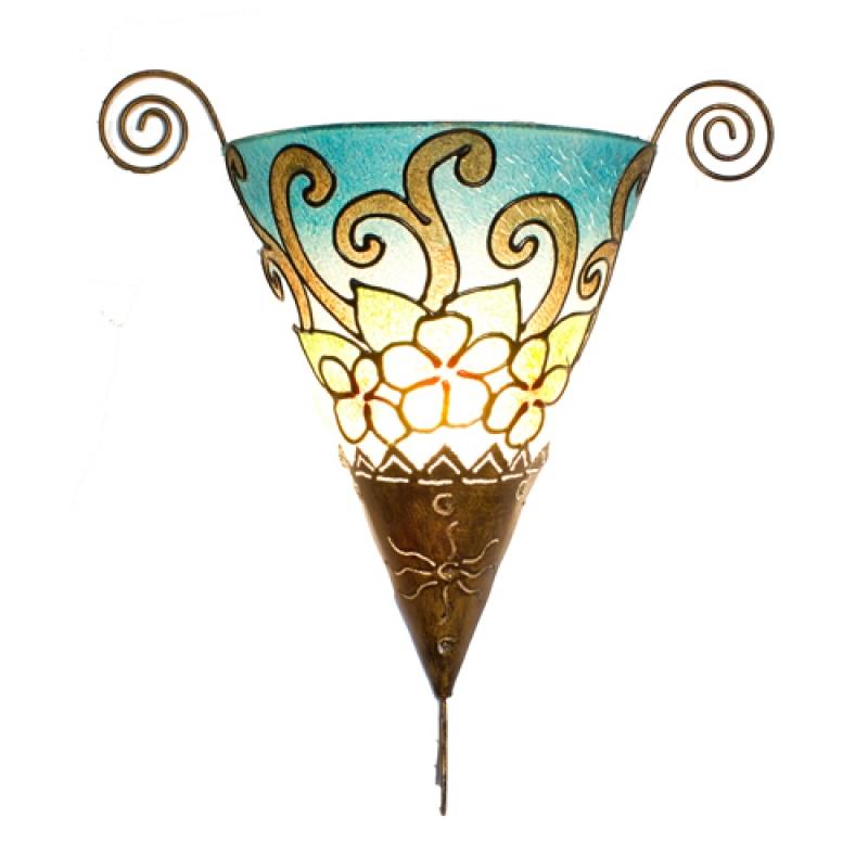 dekor leuchte wandlampe bl ten dekor leuchten duftschloss. Black Bedroom Furniture Sets. Home Design Ideas