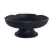 Räucherschale, aus Ton Räucherschale, aus Ton, schwarze Blume, RZ10